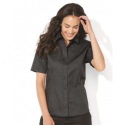 FeatherLite 5281 Women's Short Sleeve Stain-Resistant Tapered Twill Shirt