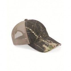 Outdoor Cap CGWM301 Washed Brushed Mesh-Back Camo Cap