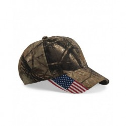 Outdoor Cap CWF305 Camo Cap with Flag Visor