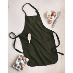 Q-Tees Q4350 Full-Length Apron with Pockets