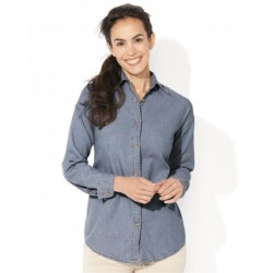 Sierra Pacific 5211 Women's Long Sleeve Denim Shirt