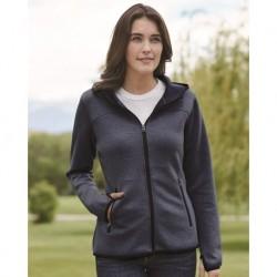 Weatherproof W18700 Heat Last Women's Fleece Tech Hooded Full-Zip Sweatshirt