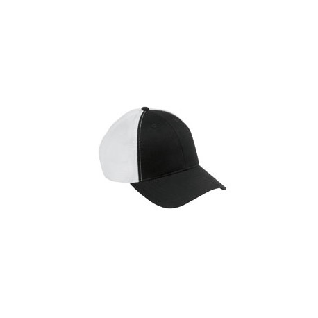 OSTM Big Accessories OSTM Old School Baseball Cap with Technical Mesh BLACK/WHITE