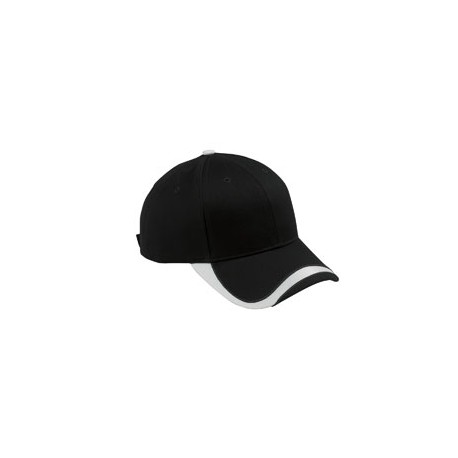 SWTB Big Accessories SWTB Sport Wave Baseball Cap BLACK/WHITE