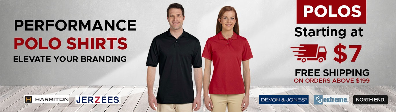 Wholesale Polos for screen printing